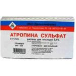 Атропин сульфат в ампулах