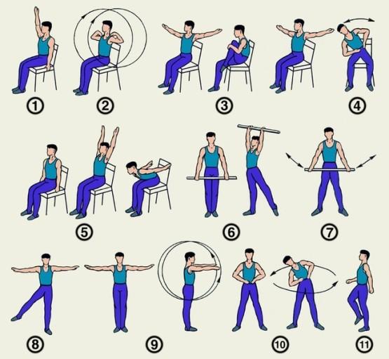 Упражнения при остеоартрозе суставов