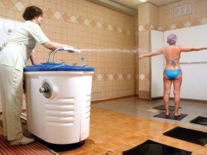Лечение сколиоза душем Шарко