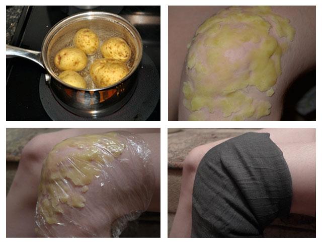 Натертый сырой картофель