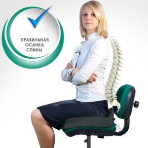 Подушка ортопедическая на офисный стул