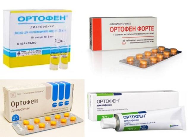 Ортофен разные формы