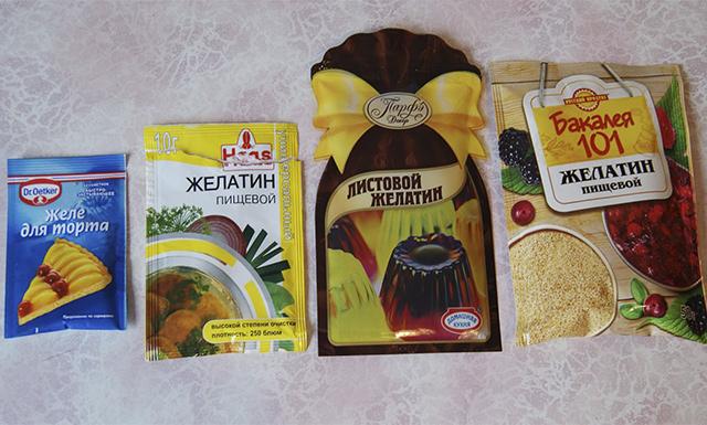 Производители желатина
