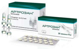 Таблетки Артрозан: инструкция по применению препарата и дешевые аналоги