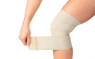 Для чего применяют эластичный бинт на колено и как правильно его наложить?
