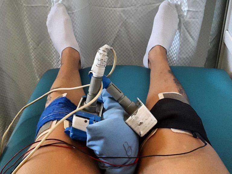 Электрофорез на колено