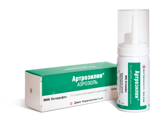 Артрозилен в форме аэрозоля