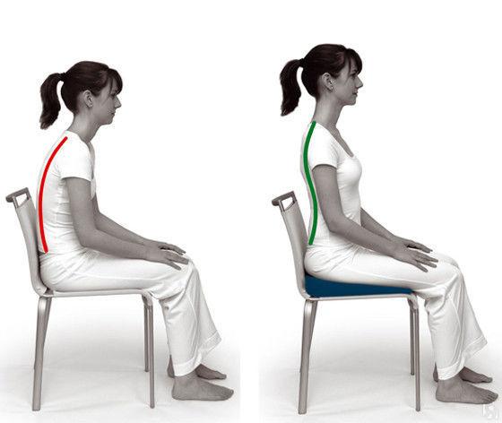 Применение подушки для стула