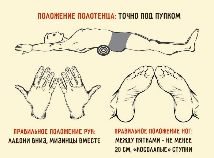 Японские упражнения с валиком для осанки