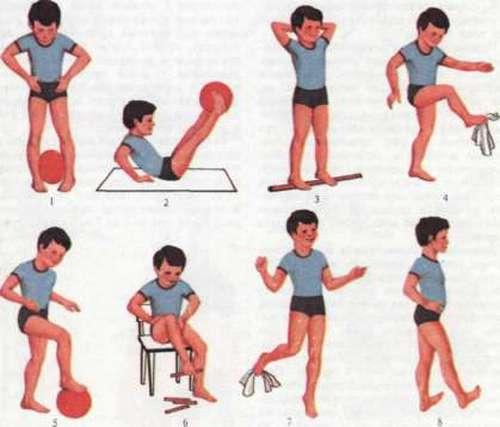 Упражнения при плоскостопии для детей