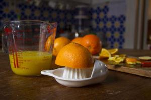 Желатин с соком апельсина