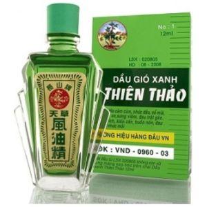 Зеленый бальзам Thien thao c ментолом и эвкалиптом Truong Son (12 мл)