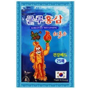Обезболивающий пластырь с женьшенем и глюкозамином Korean Glu Red Ginseng (20 шт)
