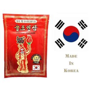 Корейский пластырь от боли Gold Insam с красным женьшенем (20 шт)